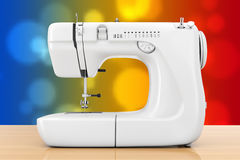 Modern White Sewing Machine. 3d Rendering Royalty Free Stock Image