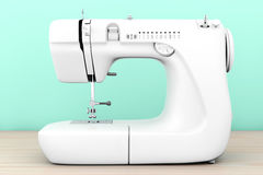 Modern White Sewing Machine. 3d Rendering Royalty Free Stock Images
