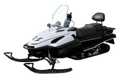 Modern white snowmobile Stock Image