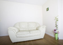 Modern white sofa Stock Photo