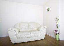 Modern white sofa Stock Photo