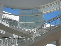 Modern White Staircase at Getty Center Stock Photos