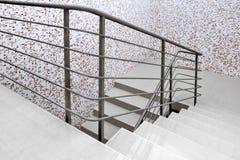 Modern  white staircase Stock Image