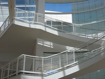 Modern White Staircase and Ramp at Getty Center Stock Image