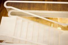 Modern white stairs Stock Photos