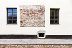 Modern white street wall Royalty Free Stock Photo