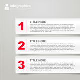 Modern white technology infographics banner Stock Photos