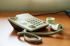 Modern white telephone Stock Photo
