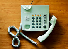 Modern white telephone Royalty Free Stock Photos