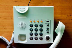 Modern white telephone Royalty Free Stock Photo