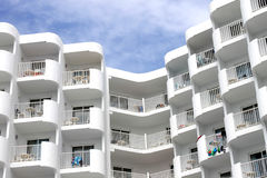 Modern white tourist hotel Royalty Free Stock Images