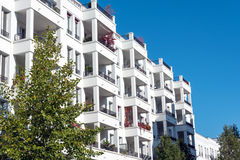 Modern white townhouses in Berlin Stock Images