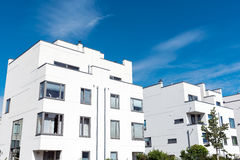 Modern white townhouses in Germany Royalty Free Stock Photos