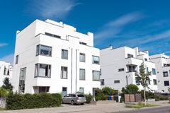 Modern white twin houses in Berlin Royalty Free Stock Image