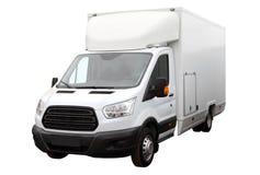 Modern white van. Royalty Free Stock Photo
