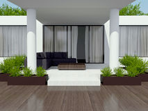 Modern white villa. Stock Images