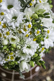 Modern white wedding bouquet Royalty Free Stock Image