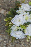 Modern white wedding bouquet. Made of roses Royalty Free Stock Photos