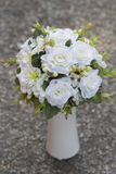 Modern white wedding bouquet. Made of roses Royalty Free Stock Photo