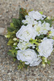 Modern white wedding bouquet Stock Photography