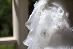 Modern White Wedding Dress Stock Images