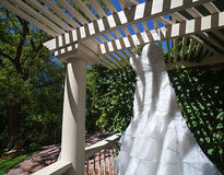 Modern White Wedding Dress Stock Photos