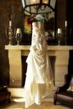 Modern White Wedding Dress Stock Image