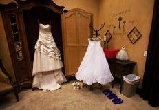 Modern White Wedding Dress Royalty Free Stock Images