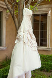 Modern White Wedding Dress Royalty Free Stock Image