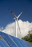 Wind energy,white turbine Stock Photography