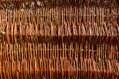 Modern wicker fence background Royalty Free Stock Photos