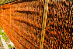 Modern wicker fence Stock Photography