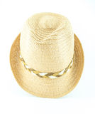Modern wicker straw hat Royalty Free Stock Images