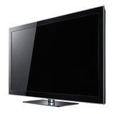 Modern widescreen lcd tv Stock Photography
