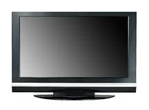 Modern widescreen lcd tv monitor isolated Stock Photo
