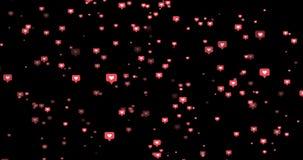 Modern wie rosa Kreisikonen auf schwarzem Hintergrund Lizenzfreies Stockfoto