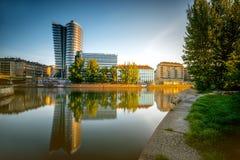 Modern Wien cityscape arkivfoto