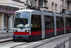 Modern Wien spårvagn Arkivfoto