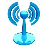 modern wifiradio för blå symbol stock illustrationer