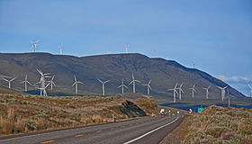 Modern Wind Mill Power Generators Stock Images