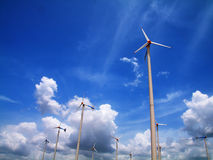 Modern wind turbine. S or wind mills producing energy.Thailand Royalty Free Stock Photo