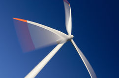 Modern wind turbine. A modern Vestas wind turbine in motion Royalty Free Stock Photography