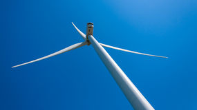 Modern wind turbine providing energy Stock Photo