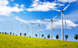 Modern Wind Turbines Royalty Free Stock Images