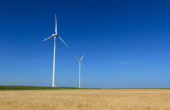 Modern wind turbines Royalty Free Stock Photography
