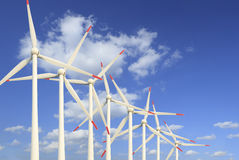 Modern wind turbines Green Energy Stock Images