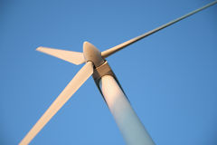 Modern Windmill. Windmill turning and generating energy in Cleveland, Ohio Stock Photo