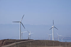 Windmill Turbine, Wind Power, Green Energy. Modern Windmill Turbine or Wind Power, Green Energy Royalty Free Stock Images
