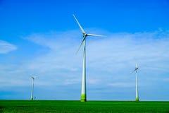 Modern Windmill Turbine, Wind Power, Green Energy. stock images