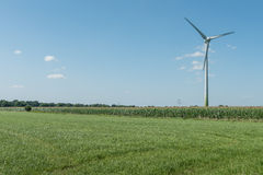 Modern Windmill Turbine, Wind Power, Green Energy Stock Photo